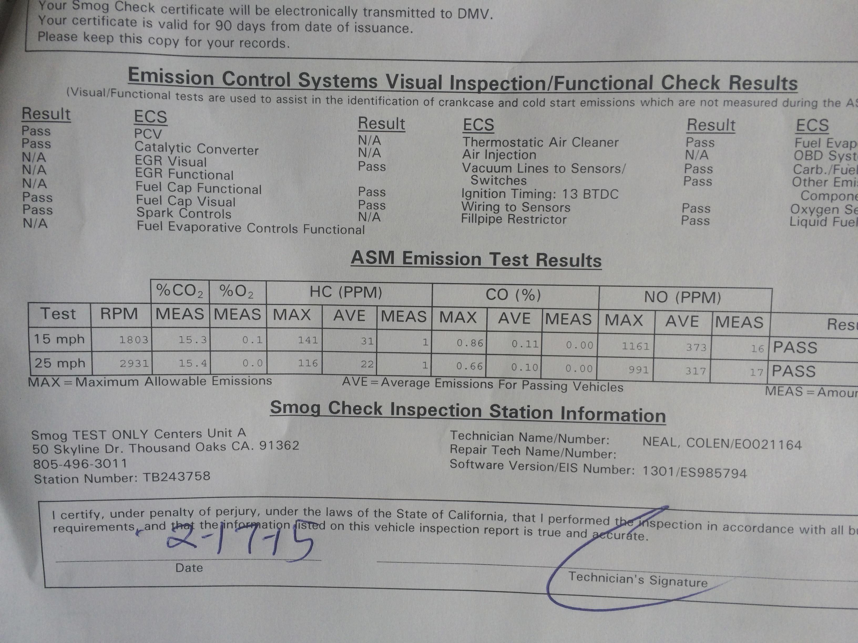how to pass smog test california